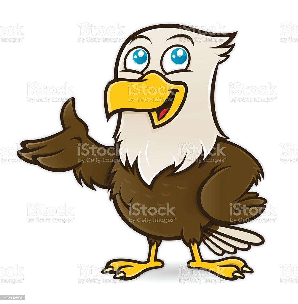 Bald Eagle Bird Cartoon Character Mascot Vector Art
