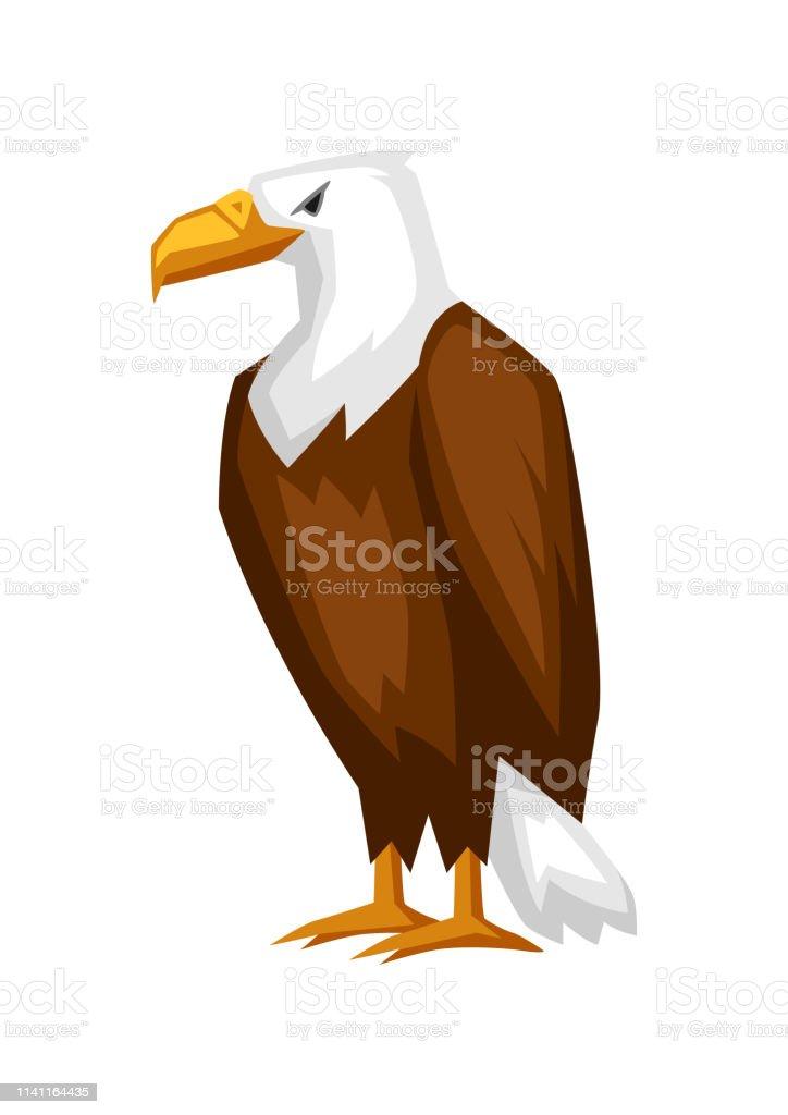 bald eagle cartoon illustration stock vektor art und mehr bilder von adler  - istock  istock