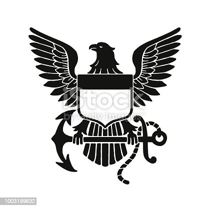 istock Bald Eagle Emblem 1003199632