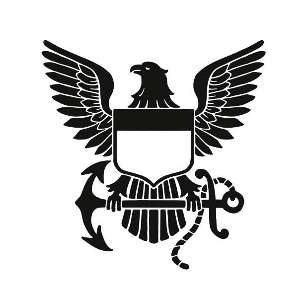 illustrations, cliparts, dessins animés et icônes de emblème de l'aigle à tête blanche - aigle