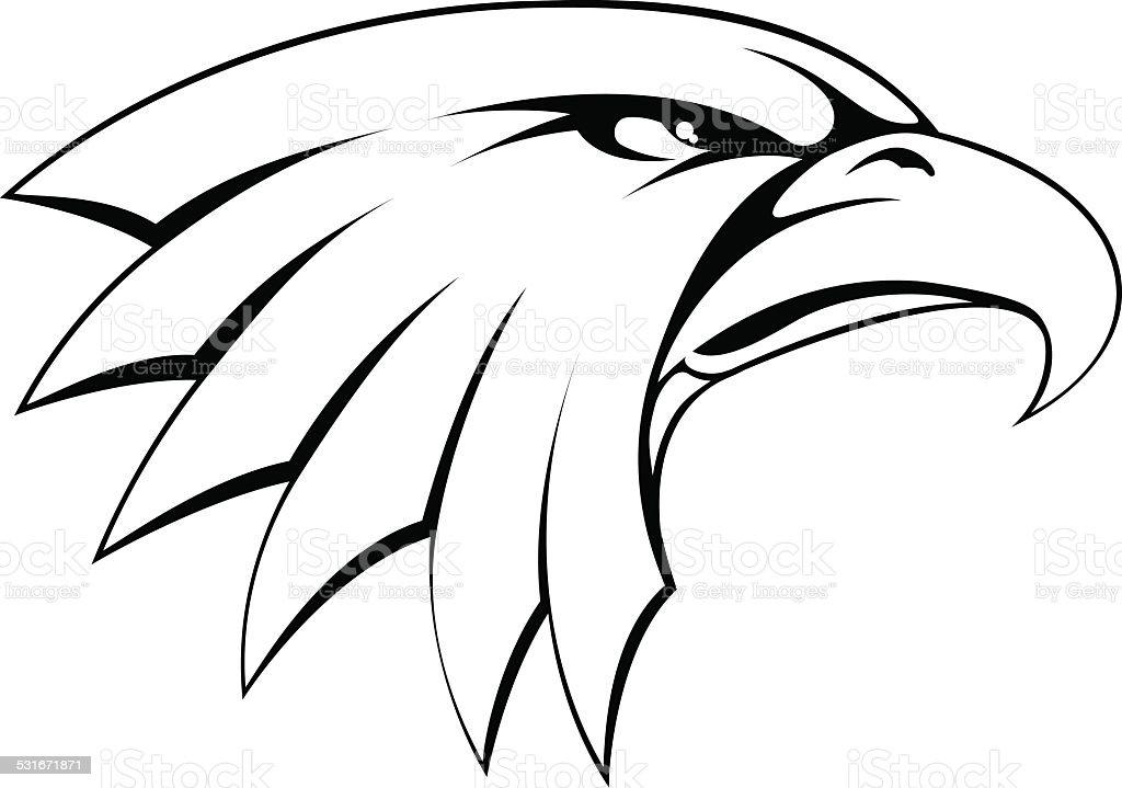 Ilustración de Águila Calva Icono De Cabeza y más banco de imágenes ...