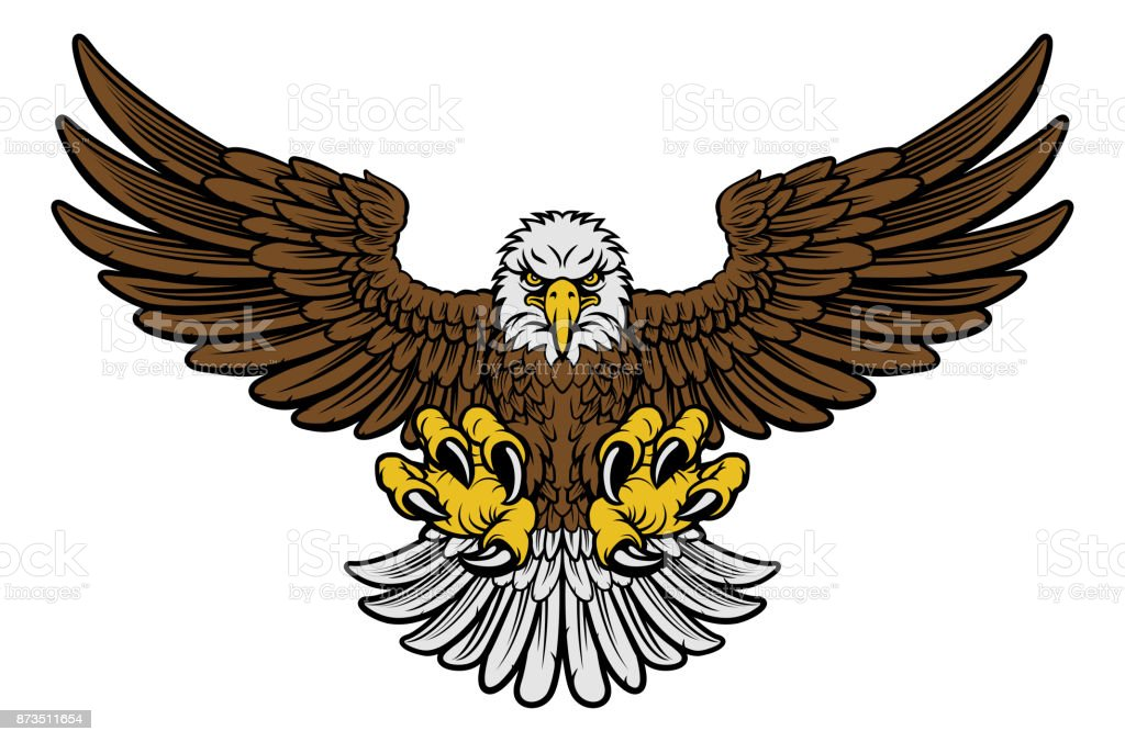 Bald Eagle Mascot vector art illustration