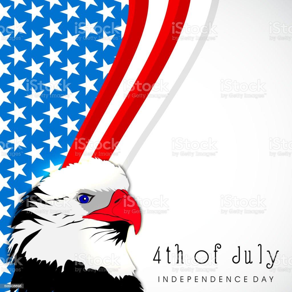 Bald Eagle on creative grey background. vector art illustration