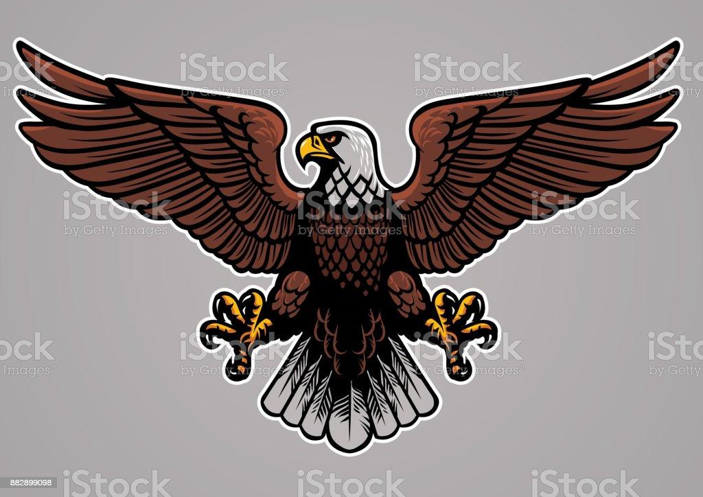 bald eagle spread his wings