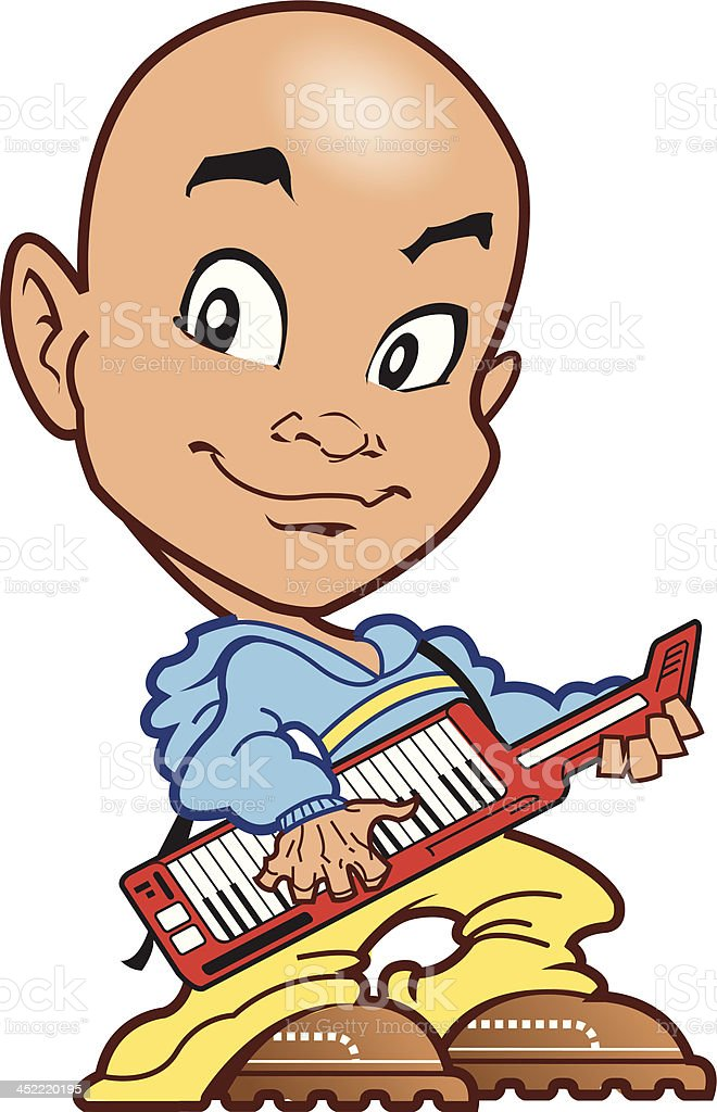 Bald Keyboard Player royalty-free bald keyboard player stock vector art & more images of adult