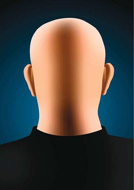Bald man vector art illustration