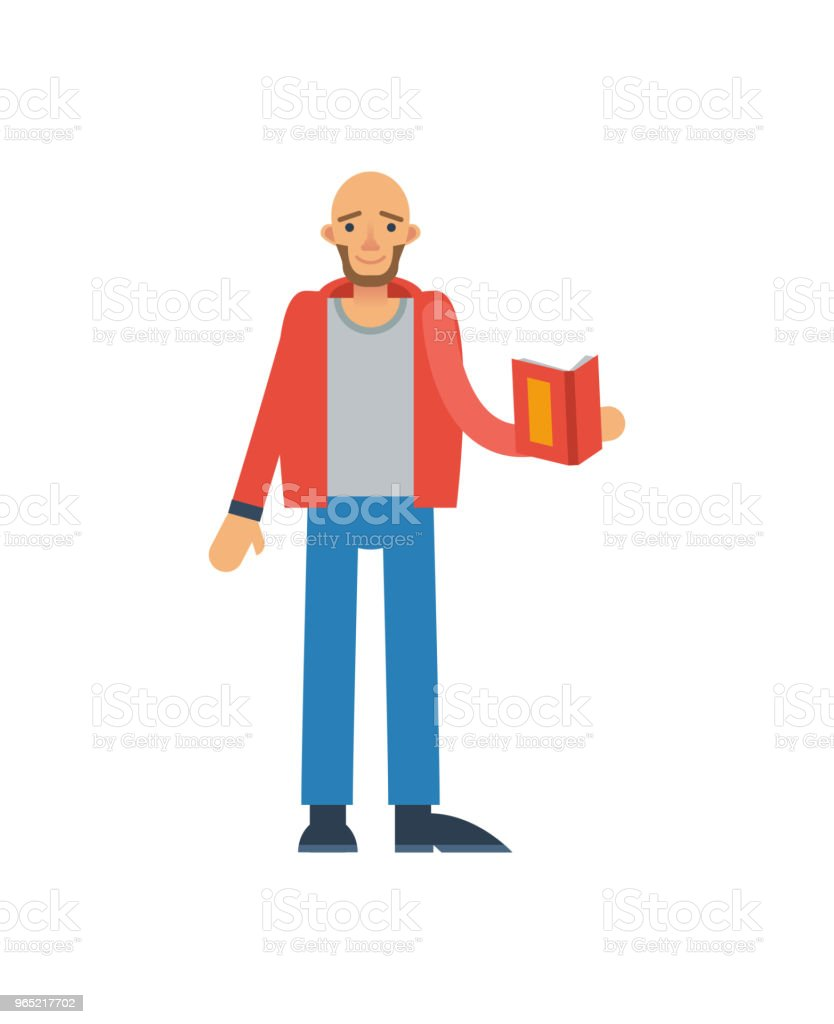 Bald man with book icon bald man with book icon - stockowe grafiki wektorowe i więcej obrazów baner royalty-free