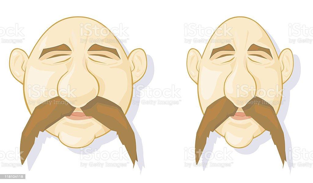 Bald Men Characters royalty-free stock vector art