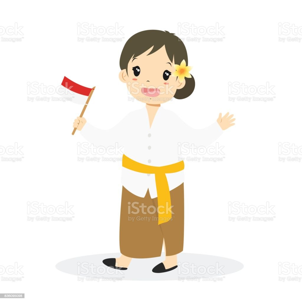 bali girl holding indonesian flag cartoon vector stock illustration download image now istock bali girl holding indonesian flag cartoon vector stock illustration download image now istock