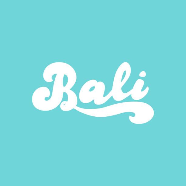 bali handgeschriebenes logo.  vector eps 10. - denpasar stock-grafiken, -clipart, -cartoons und -symbole