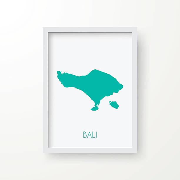 bali karte frame auf weißem hintergrund - denpasar stock-grafiken, -clipart, -cartoons und -symbole
