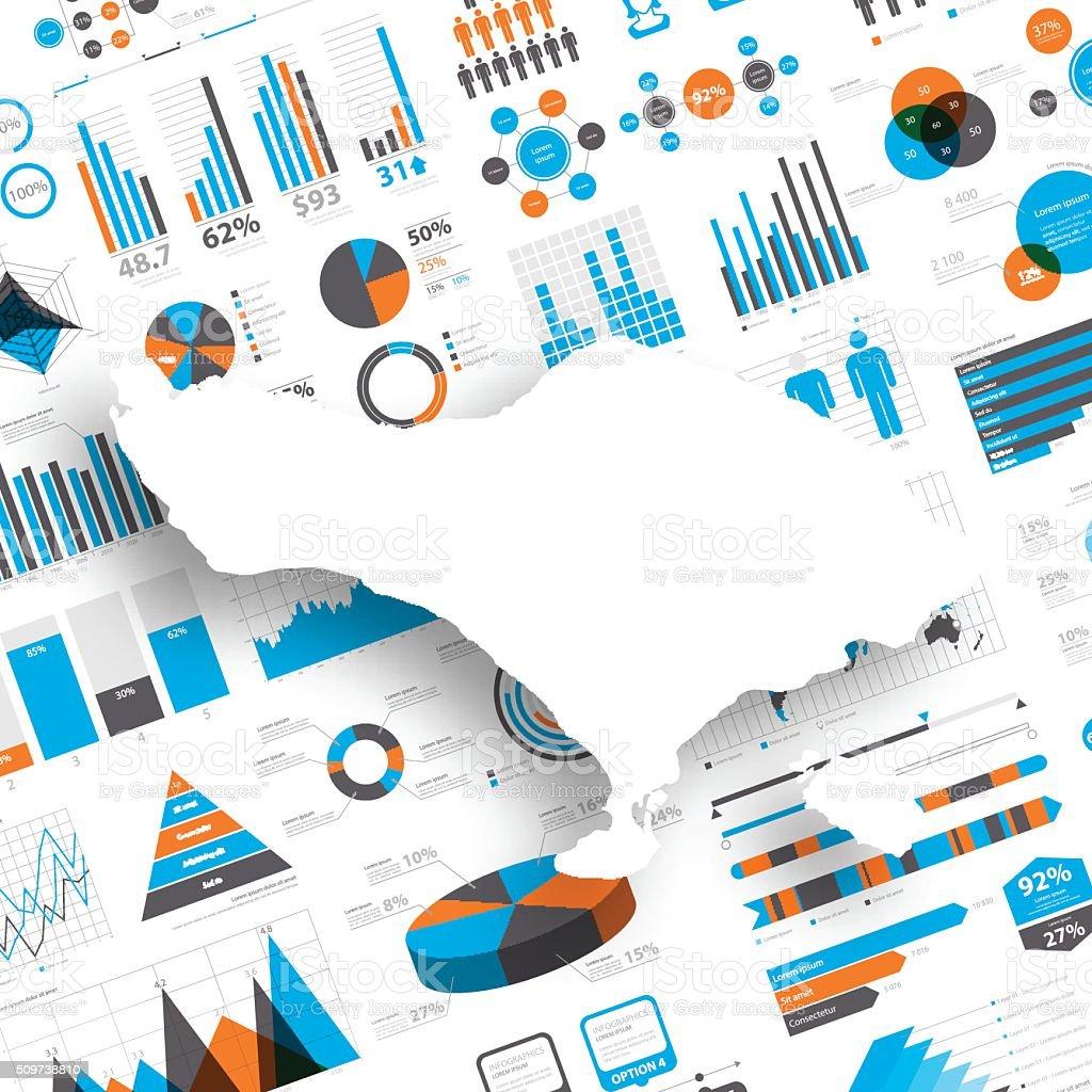 Bali Map on Infographic Background vector art illustration