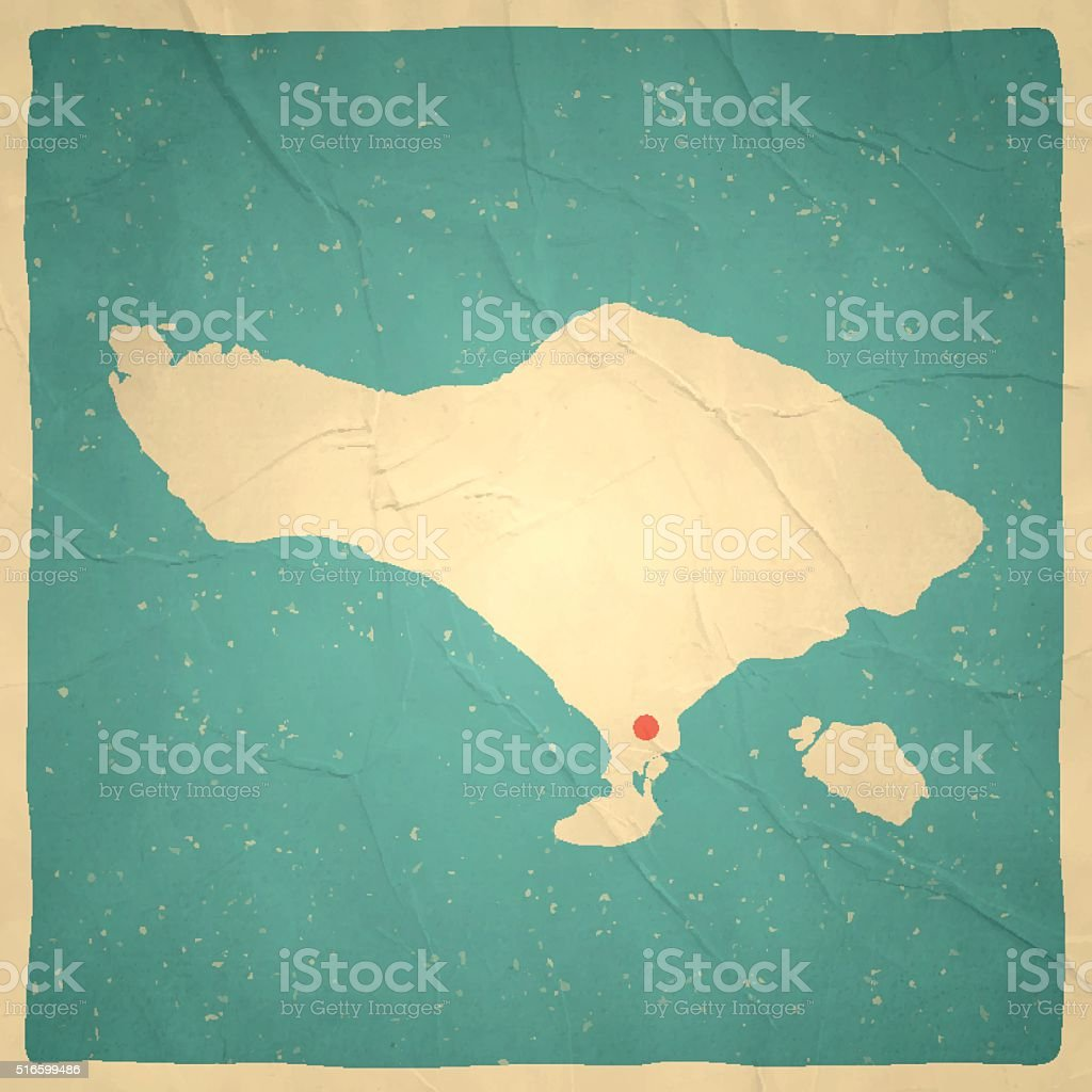 Map Of Asia Bali.Bali Map On Old Paper Vintage Texture Stock Illustration Download
