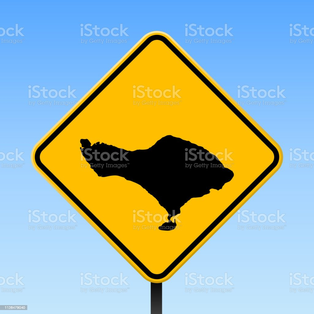 Bali Karte Asien.Bali Karte Auf Verkehrszeichen Stock Vektor Art Und Mehr Bilder Von