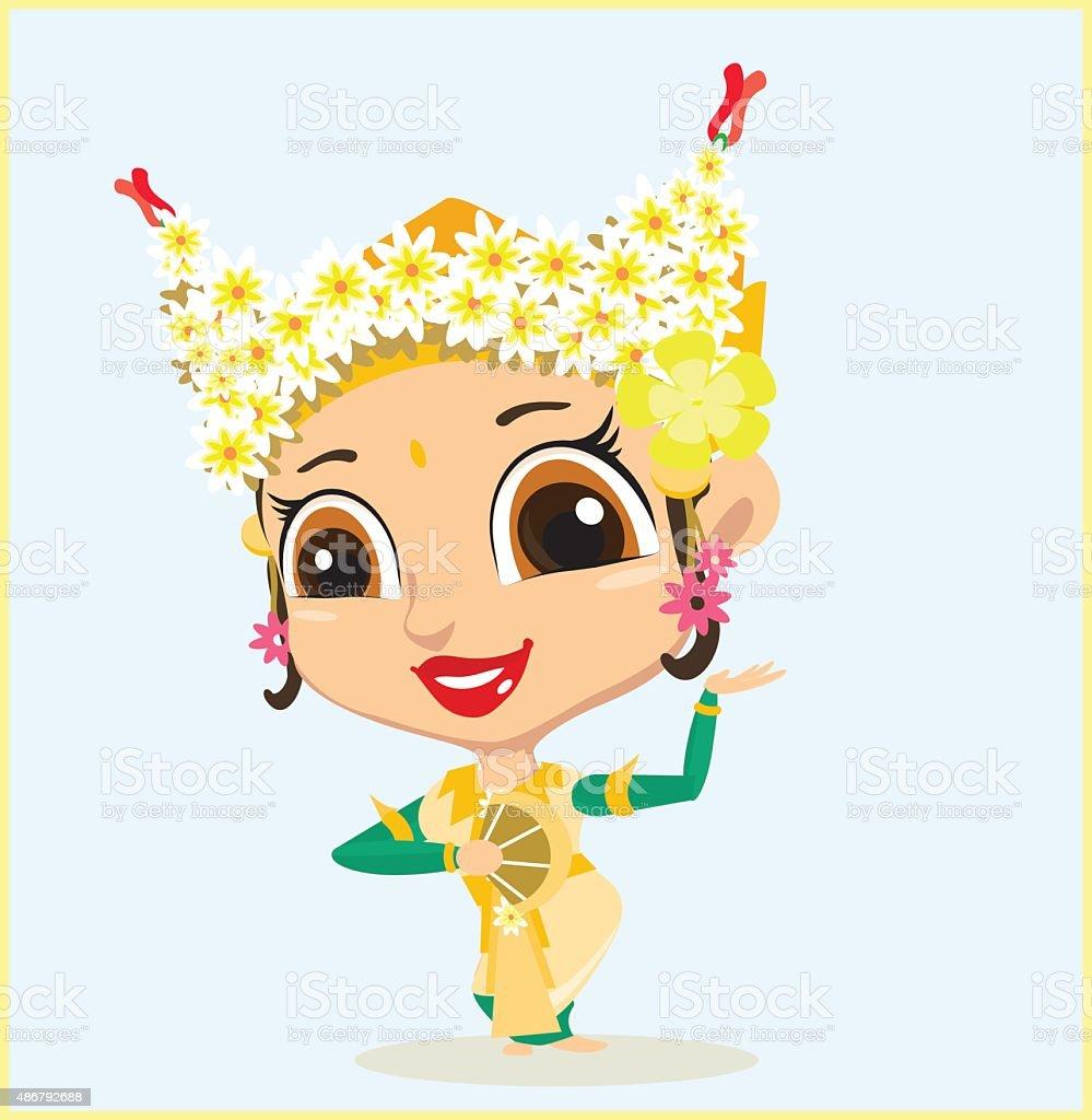 Balinese Dancer Stock Vector Art & More Images of 2015 486792688 ...