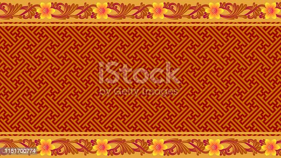 Balinese Traditional Carving Style Woven Bamboo Decorative Seamless Pattern