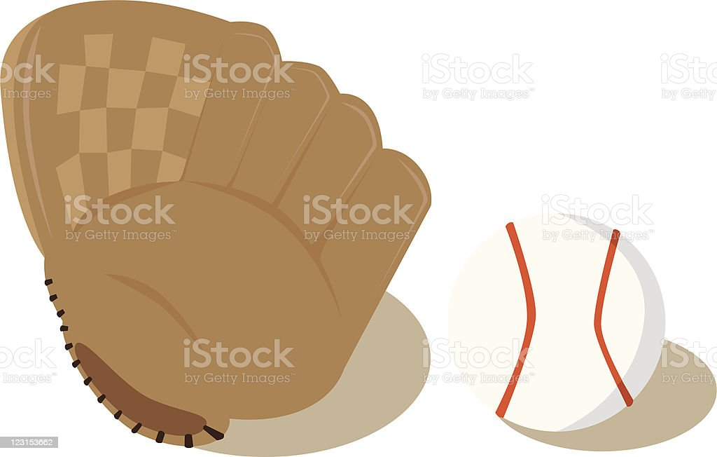 Ball and Glove royalty-free stock vector art