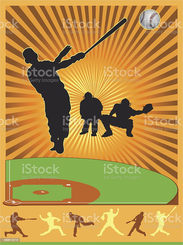 Ball and  player royalty-free stock vector art