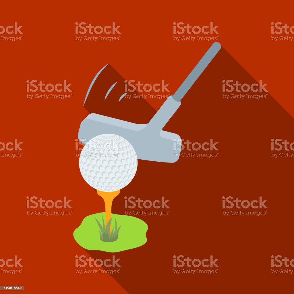 Ball and putter for golf.Golf club single icon in flat style vector symbol stock illustration web. royalty-free ball and putter for golfgolf club single icon in flat style vector symbol stock illustration web stock vector art & more images of ball