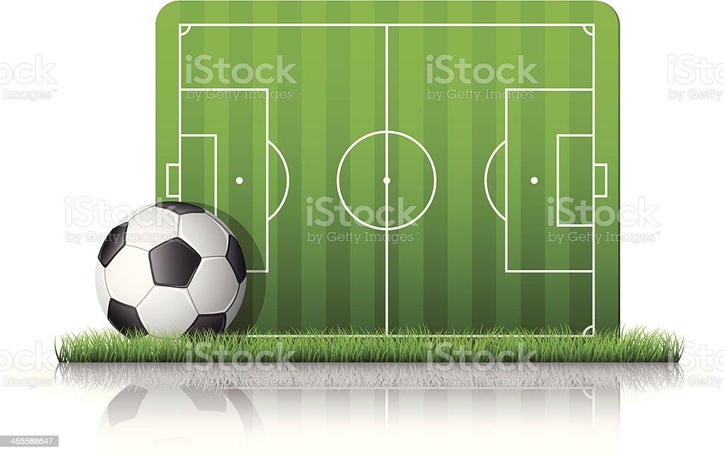 Ball and soccer/football field royalty-free stock vector art