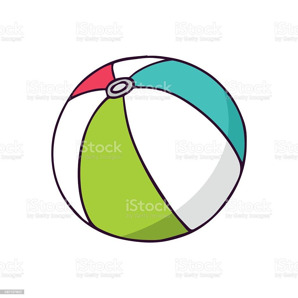 Ball, bright vector children illustration isolated on white vector art illustration
