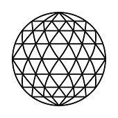 istock Ball Cut Gemstone Icon on Transparent Background 1284283079