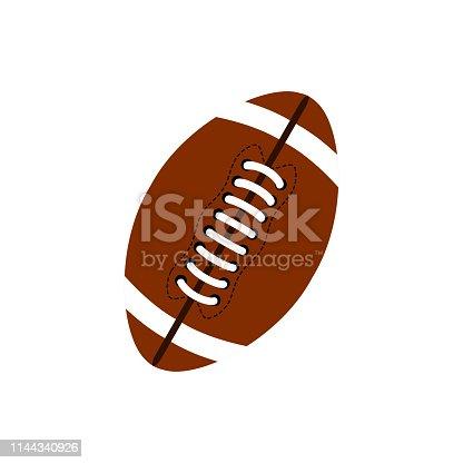 Ball for american football. Football icon. American football ball oval icon. Eps10