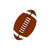Ball for american football. Football icon. American football ball oval icon