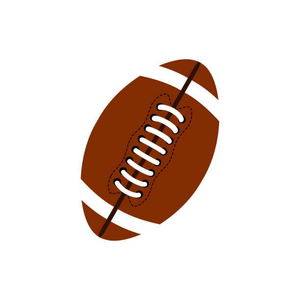 ilustrações de stock, clip art, desenhos animados e ícones de ball for american football. football icon. american football ball oval icon - football