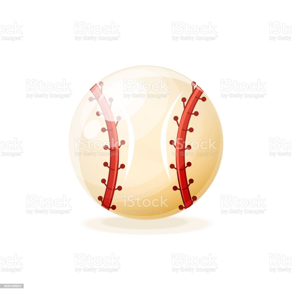 Ball for a modern baseball game. A popular team game on the sports...