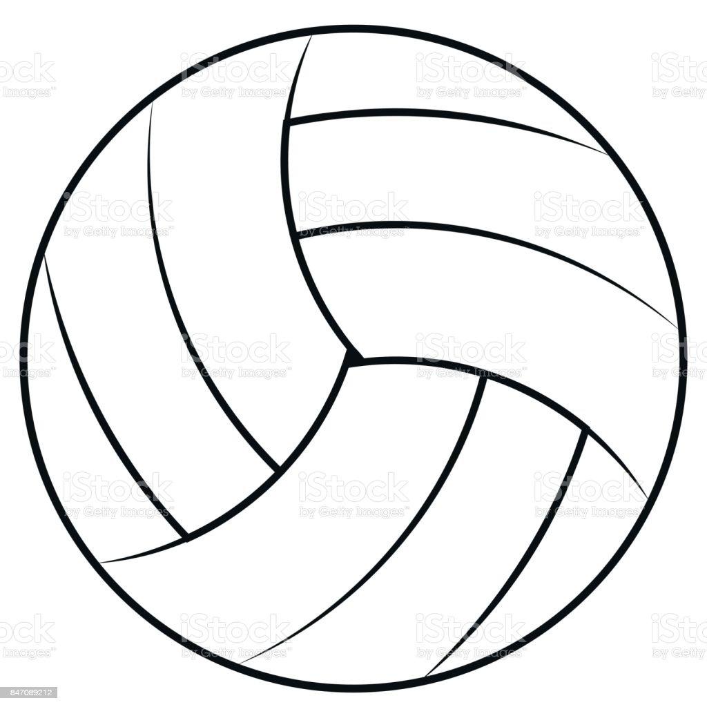 Coloriage Ballon De Volley.Ballon Pour Jouer Au Beachvolley Volley Ball De Vecteur Des