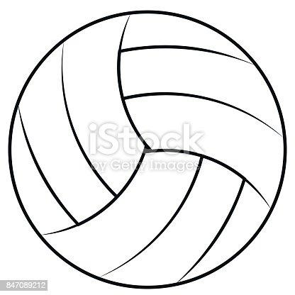 Ilustración de Balón Para Jugar Voleibol De Playa Vector Contornos ...