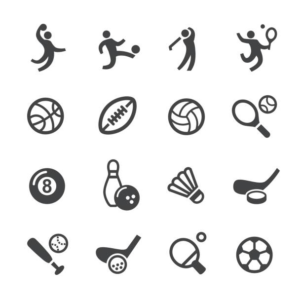 Ball Games Icons - Acme Series vector art illustration