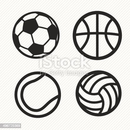 ball icons set. illustration eps10