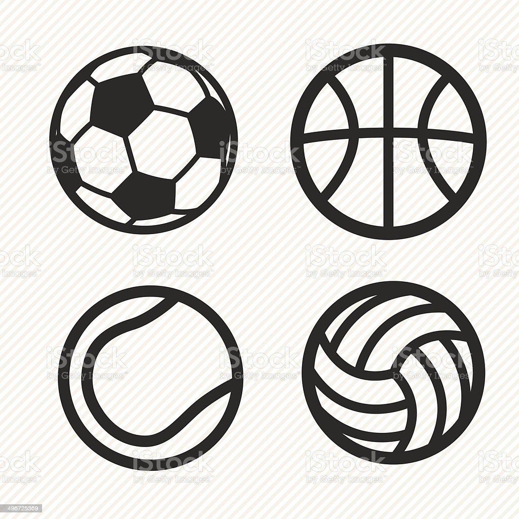 Ballon icônes définies. - Illustration vectorielle