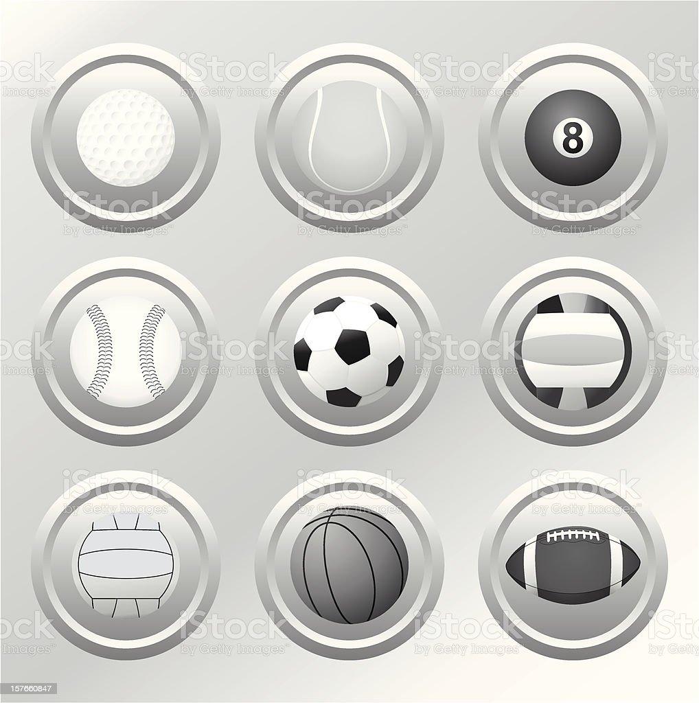 Ball  Icons - Vector royalty-free stock vector art