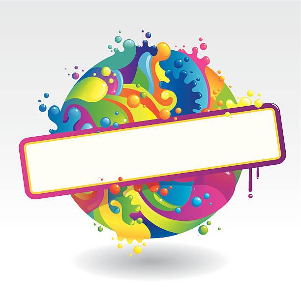 ball der farben - palettenbilderrahmen stock-grafiken, -clipart, -cartoons und -symbole