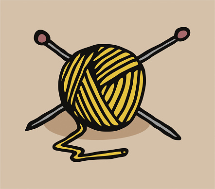Ball of wool art color