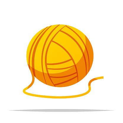 Ball of yarn vector isolated illustration