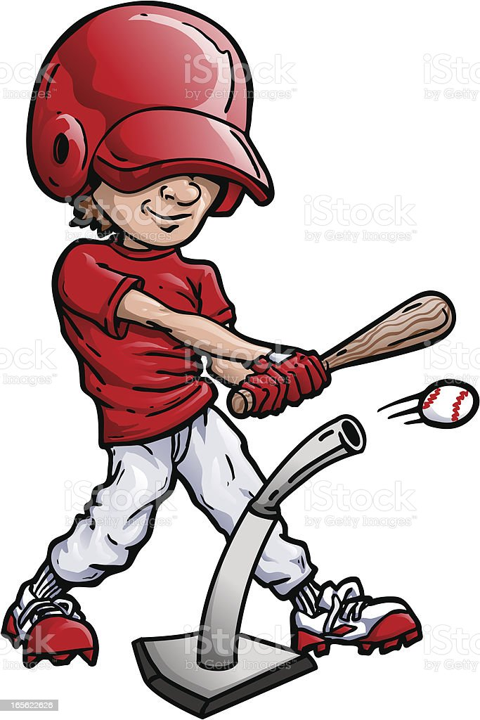 t ball or basball kid stock vector art more images of athlete rh istockphoto com  t ball clipart free