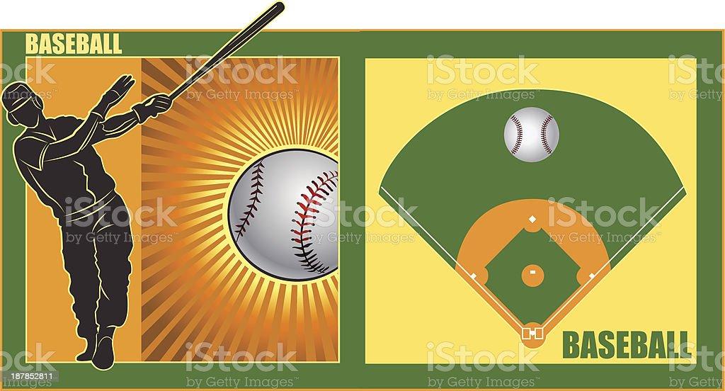 Ball player royalty-free stock vector art