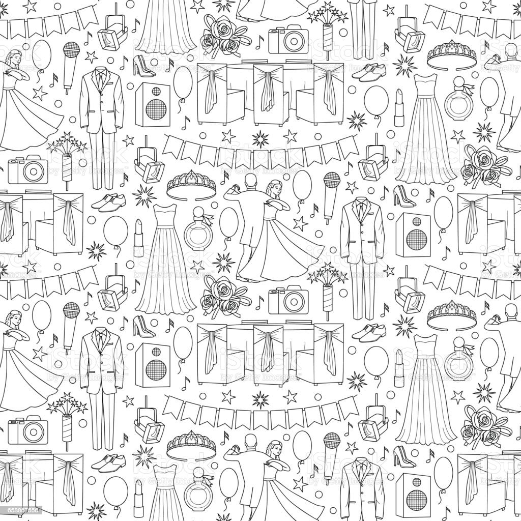 Ball Seamless Pattern vector art illustration