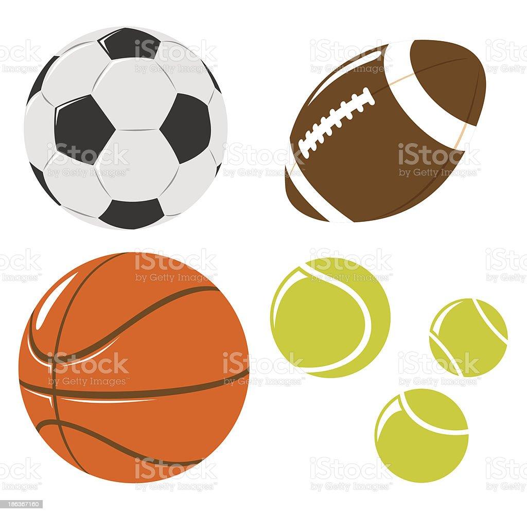 ball set royalty-free ball set stock vector art & more images of american football - ball