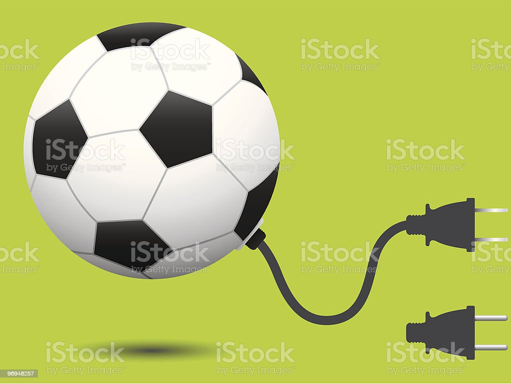 Ball soccer with connector plug royalty-free ball soccer with connector plug stock vector art & more images of art and craft