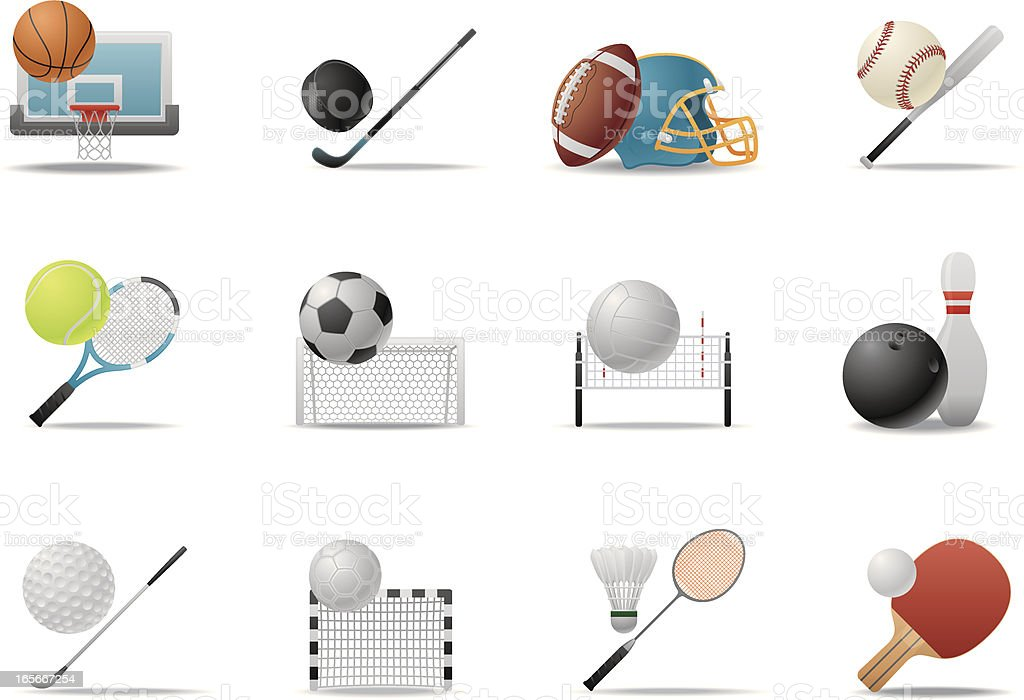 Ball Sports icons | Premium Matte series vector art illustration