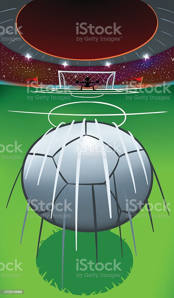 Ball to the Goal royalty-free ball to the goal stock vector art & more images of american football - ball