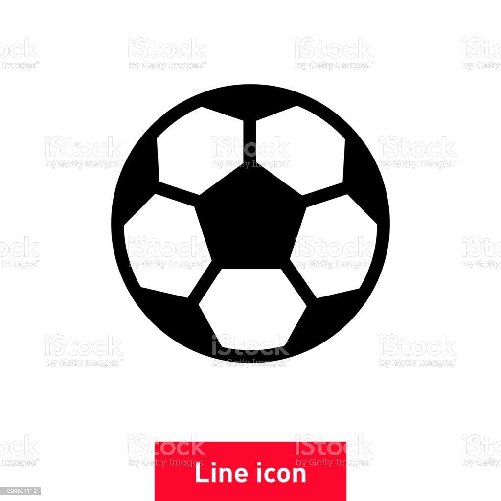 Ball Vektor Icon Fussballzeichen Stock Vektor Art Und Mehr