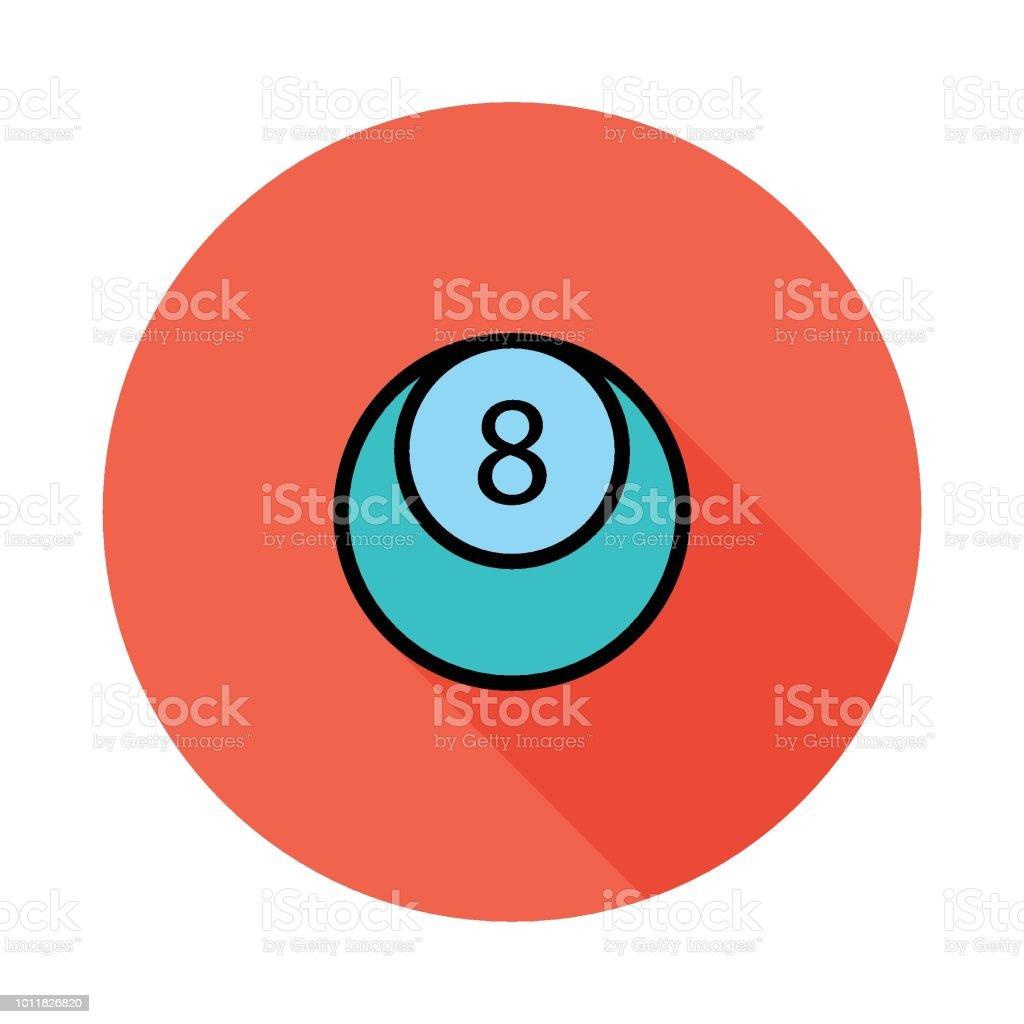 8 ball vector art illustration