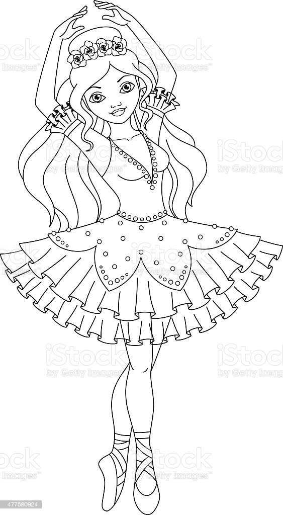 Ballerina Coloring Page Stock Illustration - Download ...