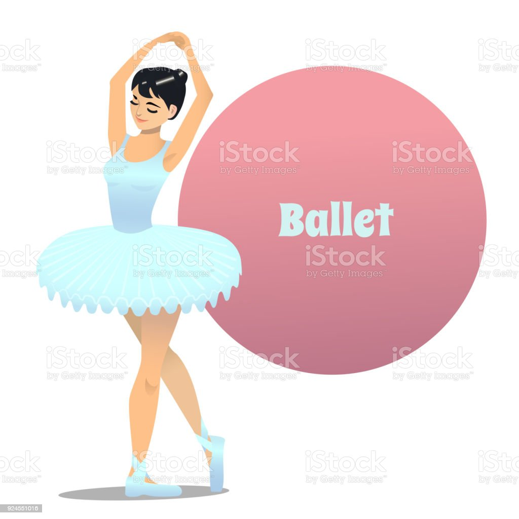Ballerina In Cartoon Style Stock Illustration Download Image Now Istock